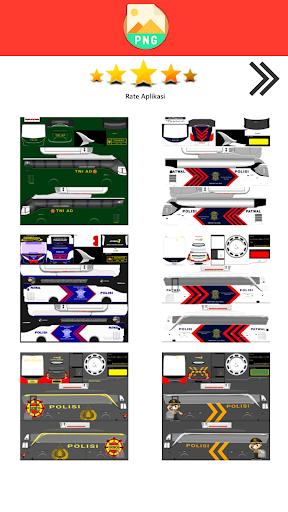 Livery Bussid TNI  Screenshots 1