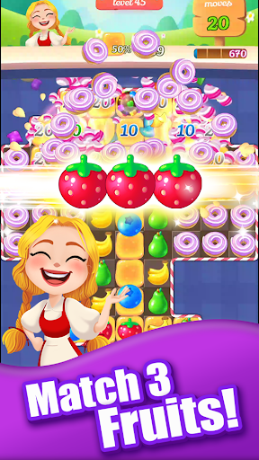 new sweet fruit punch: #1 free puzzle match 3 game screenshot 1