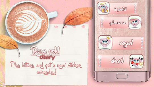Cute Rose Gold Diary App 4.0 (MOD + APK) Download 2