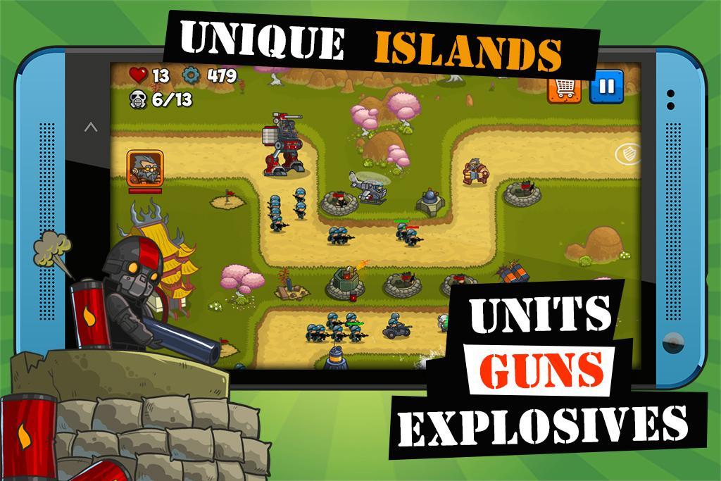 Island Defense: Offline Tower Defense  poster 0