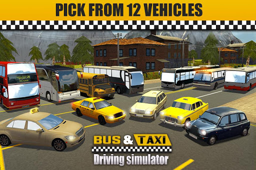 Bus & Taxi Driving Simulator  screenshots 5