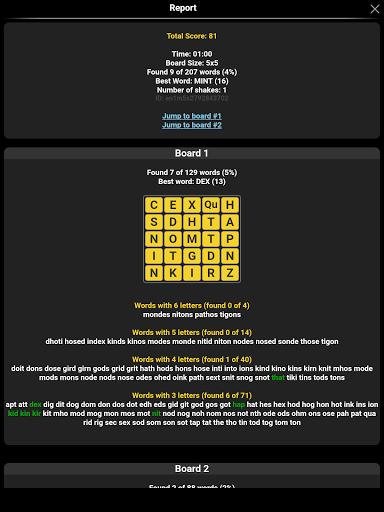Word Shaker Free 4.1 screenshots 18