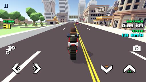 Blocky Moto Racing ud83cudfc1 - motorcycle rider  Screenshots 1