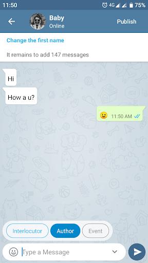 Fake Chat Messenger u2014 TeleFake 1.0.7 screenshots 4