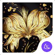Golden Flower Theme & HD wallpapers