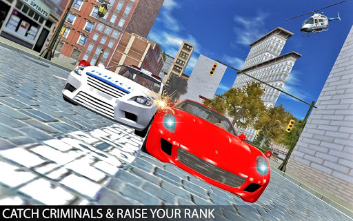 Drive Police Car Gangsters Chase : Free Games  screenshots 9