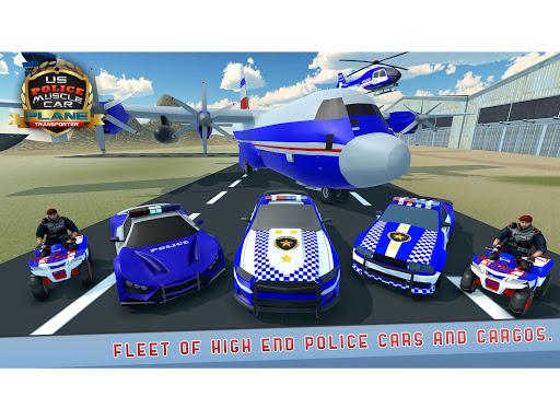 US Police Muscle Car Cargo Plane Flight Simulator 4.7 screenshots 13