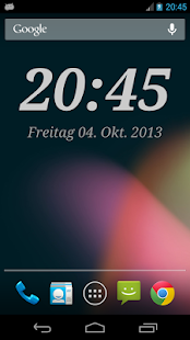 DIGI Clock Widget Screenshot
