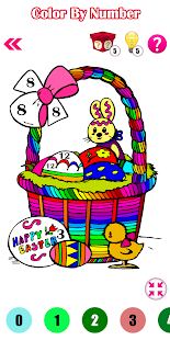 Adult Easter Eggs Color By Number-Paint By Number