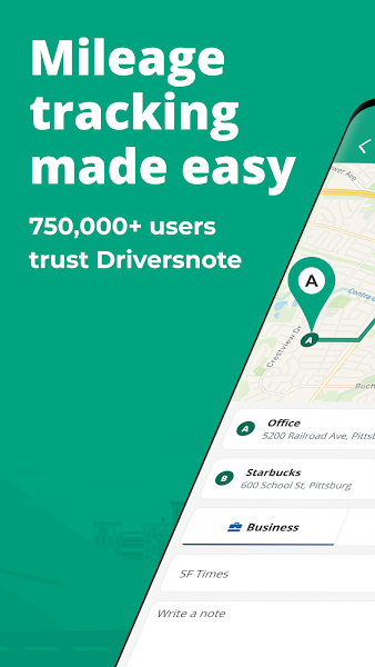 Easy Mileage Tracker & Log | Driversnote