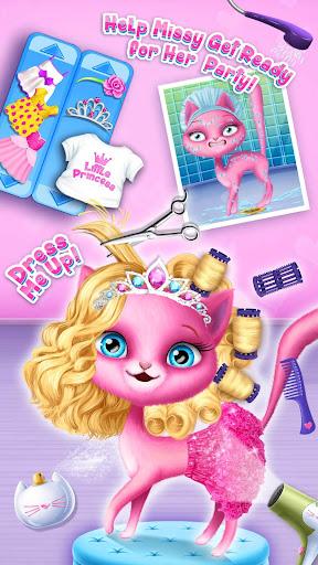 Cat Hair Salon Birthday Party - Virtual Kitty Care 8.0.80007 screenshots 4