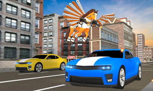 real robot horse battle:wild horse us police robot screenshot 2