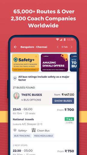 redBus - Largest Online Bus Ticket Booking App apktram screenshots 3