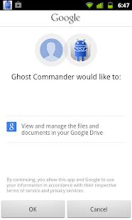 GhostCommander plugin: GDrive