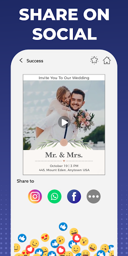 Digital Invitation Card Maker - Video eCards Apkfinish screenshots 5