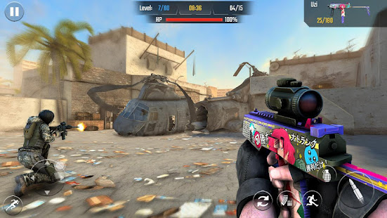Real Commando Shooting 3D Games-Offline Games 2021 1.34 Screenshots 7