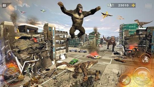 Monster Dinosaur Rampage  Angry King Kong Games Apk İndir 5