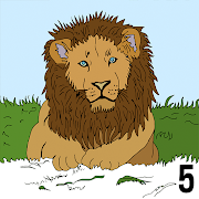 Animals Color by Number - Sparkly Zoo Paint Art