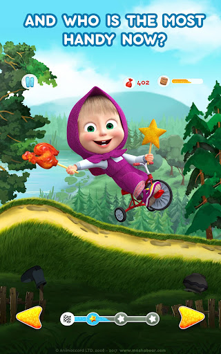 Masha and the Bear: Climb Racing and Car Games apkslow screenshots 11