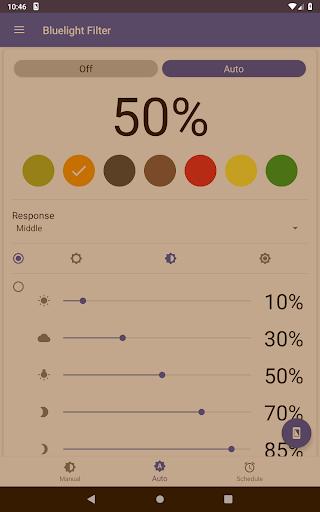 Bluelight Filter for Eye Care - Auto screen filter 3.7.1 Screenshots 9