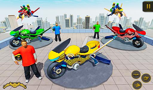 Flying Hover Bike Taxi Driver City Passenger Sim 1.6 Screenshots 12