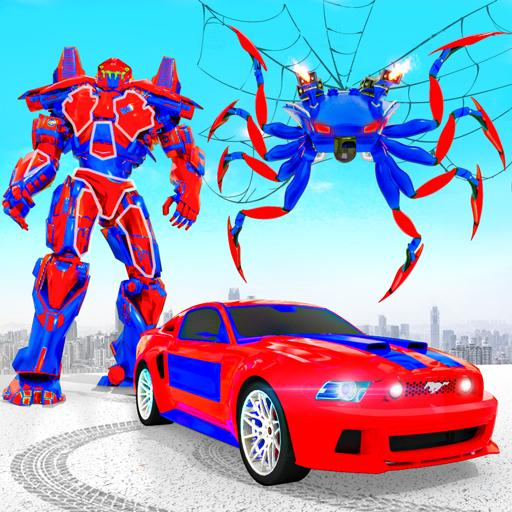 Tarantula permainan robot mobil transformasi robot
