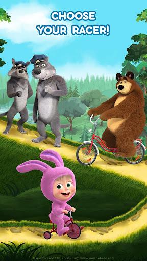 Masha and the Bear: Climb Racing and Car Games apkslow screenshots 2