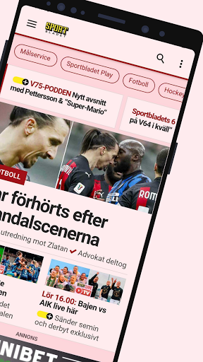 Sportbladet - Sveriges ledande sportbevakning screenshots 2