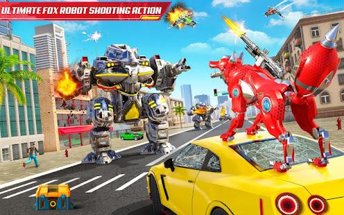 Wild Fox Transform Bike Robot Shooting: Robot Game 24 screenshots 18