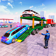 Police Limousine Taxi Transporter Game