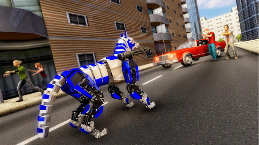 US Police Dog Robot Transform Bike Robot Games 4.1.0 screenshots 1