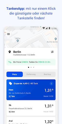 TankenApp mit Benzinpreistrend  screenshots 1