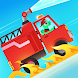 恐竜消防車 - 恐竜の消防士たちがレスキューへ。水のパズルを解いて助けよう!