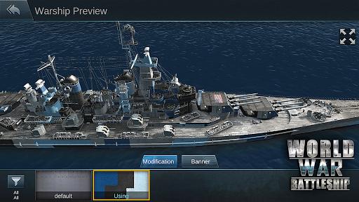 Télécharger World War Battleship- Agression Marin Jeu de tir APK MOD 2