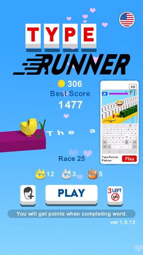 Code Triche Type Runner - Type ABCD to Run (Astuce) APK MOD screenshots 1