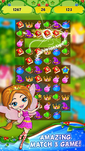 Fairy Tale ud83cudf1f Match 3 Games apkpoly screenshots 1