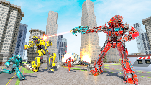 Lion Robot Transform War : Light Bike Robot Games 1.7 screenshots 3