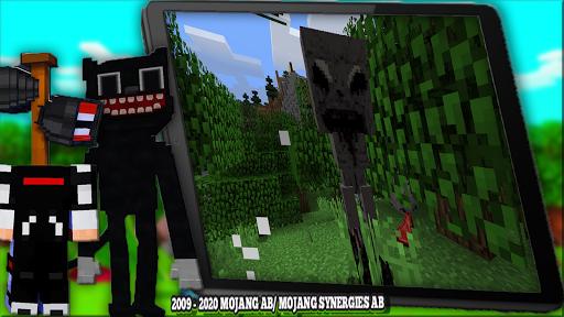 Horror Cartoon Cat Mod For MCPE & Siren Head 2021  screenshots 9