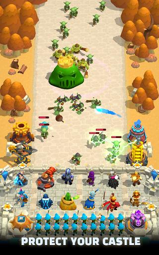 Wild Castle TD: Grow Empire Tower Defense modiapk screenshots 1