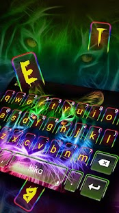 Neues Neon Tiger Tastatur thema Screenshot