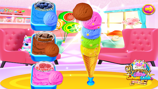 Mermaid Glitter Cupcake Chef - Ice Cream Cone Game  Pc-softi 4