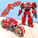 Flying Bat Robot Bike Transform war Robot Games APK