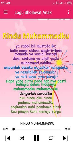 Lagu Anak Muslim & Sholawat Nabi 1.0.8 screenshots 6
