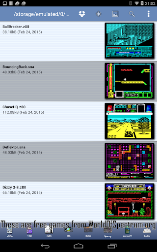 Speccy - Complete Sinclair ZX Spectrum Emulator 5.9 screenshots 2