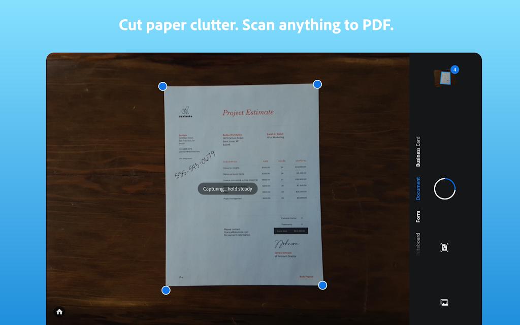 Adobe Scan: PDF Scanner with OCR, PDF Creator  poster 8