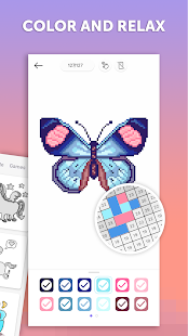 PixelArt: Color by Number, Sandbox Coloring Book Screenshot