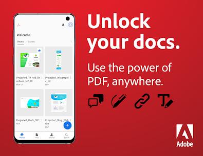 Adobe Acrobat Reader: PDF Viewer, Editor & Creator (MOD APK, Pro) v21.8.0.19312 1