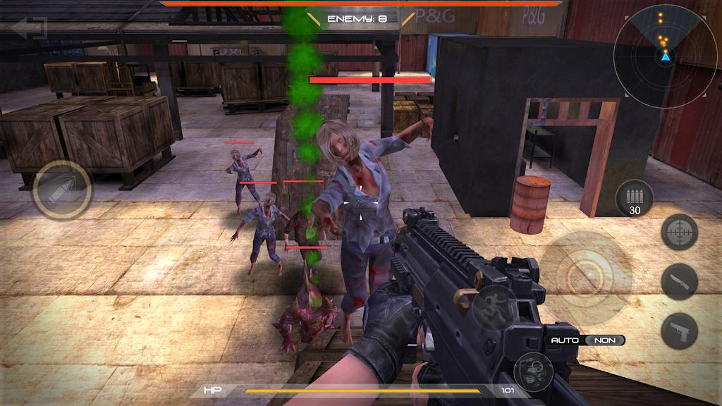 zombie comando shooting:offline fps military-games  poster 14