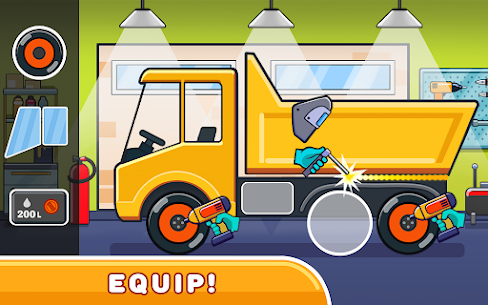 Car games for kids: building and hill racing Apk Download 4