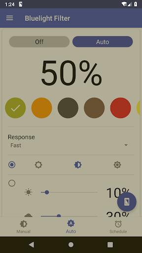 Bluelight Filter for Eye Care - Auto screen filter 3.7.1 Screenshots 1